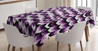 Zig Zag Retro Arrows Tablecloth