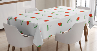 Strawberries and Bunnies Tablecloth