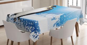 Snowy Frozen Kid Season Tablecloth