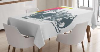 Retro Pop Classic Car Tablecloth