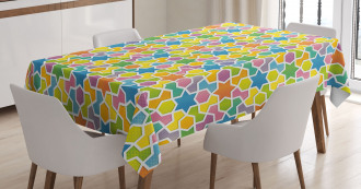 Star and Fractal Shape Tablecloth