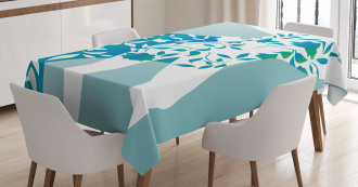 Girl Flower Petal Leaves Tablecloth
