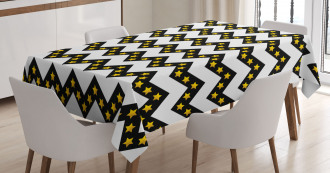 Parallel Striped Lines Tablecloth