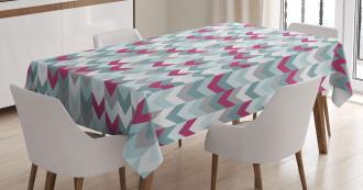 Symmetric Stripes Arrow Tablecloth