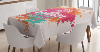 Lettering and Palms Tablecloth