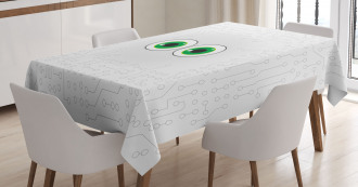 Eye Form Digital Picture Tablecloth
