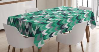 Symmetric Zig Zag Lines Tablecloth