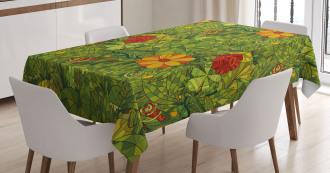 Fractal Retro Jungle Art Tablecloth