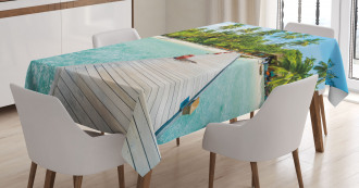 Maldives Island Beach Tablecloth