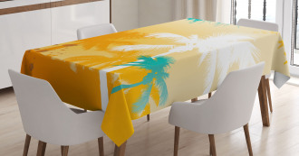 Funky Retro Vivid Palms Tablecloth