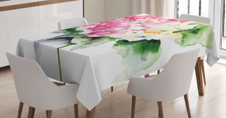 Hydrangea Flower Bouquet Tablecloth