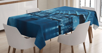 Night London Monument Tablecloth