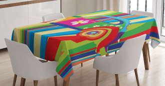 Hippie Style Classic Car Tablecloth