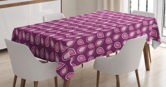 Heart Like Leaves Swirls Tablecloth