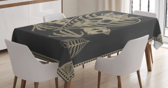 Vector Skull Poker Cards Tablecloth