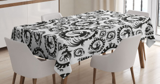 Antique Chinese Dragon Tablecloth