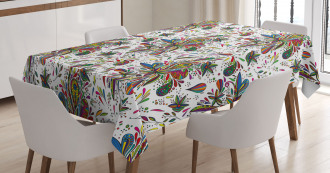 Ethnic Flora Pattern Tablecloth