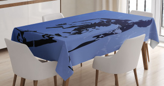 Abstract Vector Skaters Tablecloth