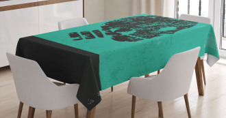 Abstract Human Skeleton Tablecloth