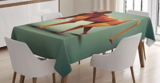 Polygonal Wild Monkey Tablecloth