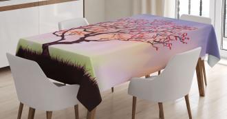 Sunset Rise Morning Scene Tablecloth