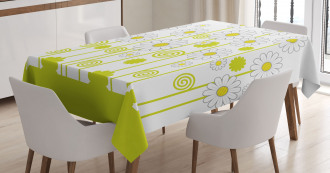 Daisises Flowers Garden Tablecloth