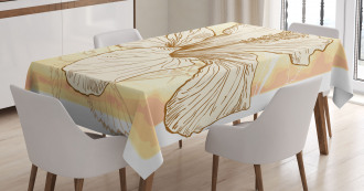 Large Hibiscus Flower Petals Tablecloth