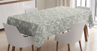 Damask with Ethnic Tablecloth