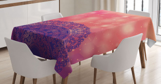 Ethnic Henna Tablecloth