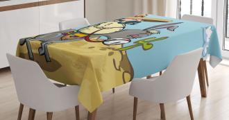 Mexican Man on a Donkey Tablecloth