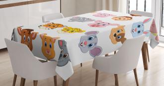 Farm Safari Animals Kid Tablecloth