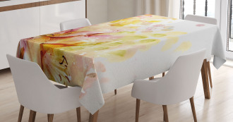 Lilies Flowers Buds Tablecloth