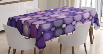 Geometric Violet Circles Tablecloth