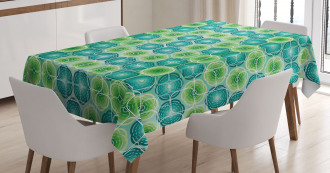 Vector Pattern Flowers Tablecloth