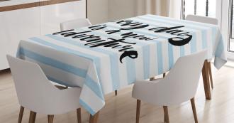 Adventure Text Tablecloth