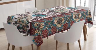 Ornate Floral Border Tablecloth