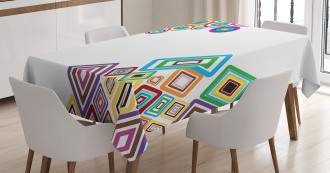 Colored Rectangle Form Tablecloth