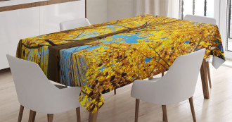 Autumn Trees Leaf Forest Tablecloth