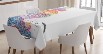 Asian Religious Bird Tablecloth