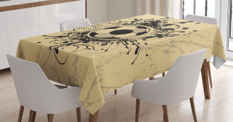 Football Abstract Modern Tablecloth