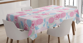 Flowers Ivy Leaves Buds Tablecloth