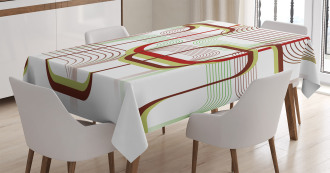 Wavy Abstract Shape Line Tablecloth
