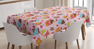 Kitchen Cupcakes Muffins Tablecloth