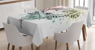 Wild Tribe Animal Wolf Tablecloth
