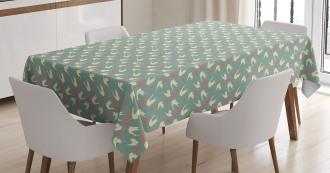 Birds Little Hearts Tablecloth