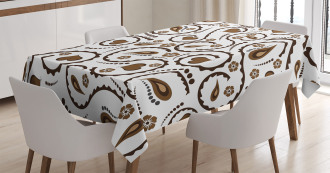 Love Heart Swirls Dots Tablecloth