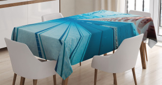 Swimming Pool Sports View Tablecloth