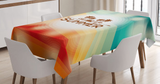 Palm Tree Sun Holiday Tablecloth
