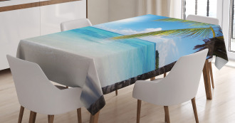 Tropical Seashore Palms Tablecloth