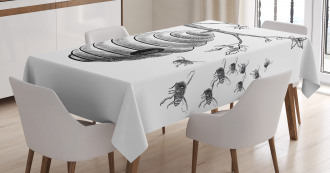 Hand Drawn Honeycomb Tablecloth